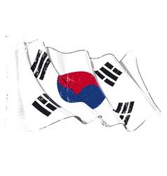 South Korea Flag Grunge vector image