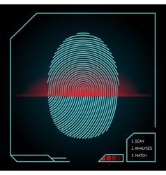 Fingerprint scanning and identification vector