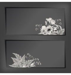 Floral sketch banners vector
