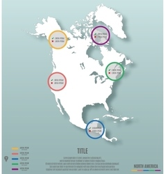 North america continent template for infographics vector