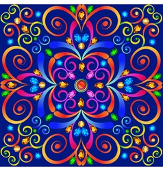 background with colorful swirls ornaments vector image
