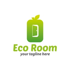 Eco room logo vector