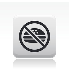 Forbidden food icon vector