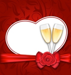 Celebration card heart shaped for happy valentines vector