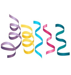 Set of party streamers carnival serpentine vector