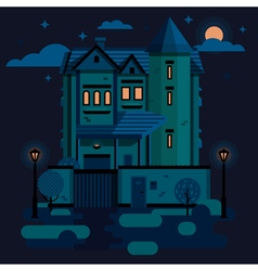 Townhouse night vector