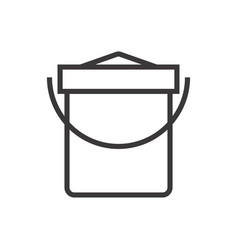 a sand bucket vector image vector image