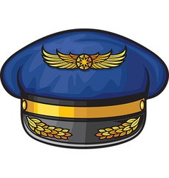 Airline pilots hat vector