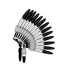 American indian feathers war bonnet vector