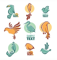 Birds logo vector