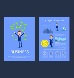 business and analytic research vector image vector image