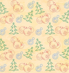 Christmas themed seamless pattern vector image vector image