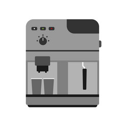 Coffee maker machine caffeine modern drink kitchen vector