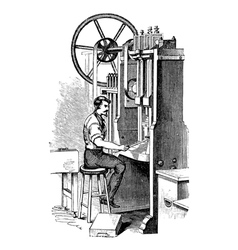 Cookie cutter vintage engraving vector