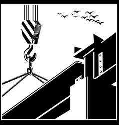 Crane and beam vector