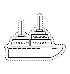 Cruise ship isolated icon vector