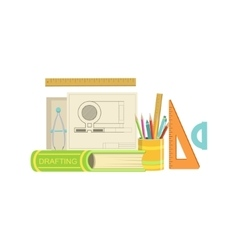 Drafting Class Set Of Objects vector image