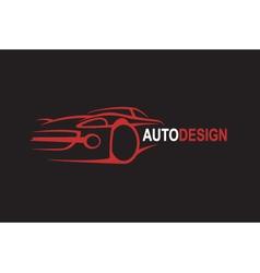 emblem of car vector image vector image