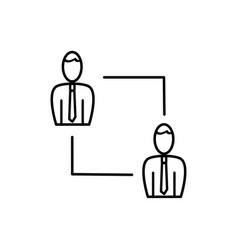 Employees connection icon vector
