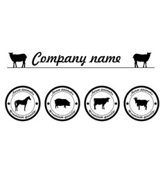 Farm animals premium quality silhouettes vector