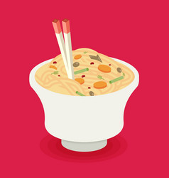 Flat noodle ramen graphic vector