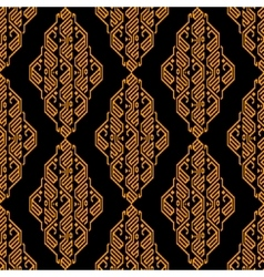 Golden and black ethnic aztec geometric seamless vector