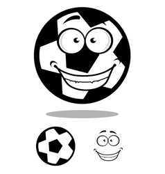 Happy football or soccer ball with a goofy smile vector