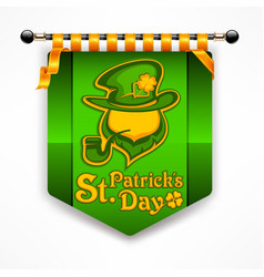 Leprechaun award banner vector
