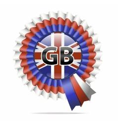 national flag badge GB vector image vector image