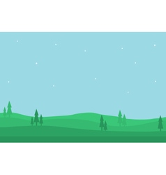 Nature landscape of silhouette for game backgro vector