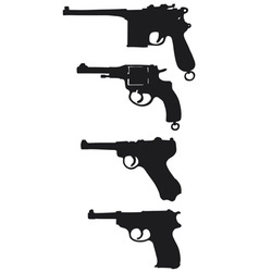 Old handguns vector