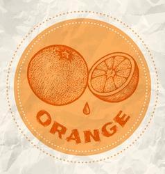 Orange vintage paper vector