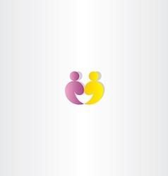 People logo partner icon vector
