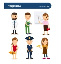 People occupation characters vector image