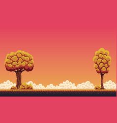 pixel autumn background vector image vector image