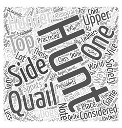 Quail hunting word cloud concept vector
