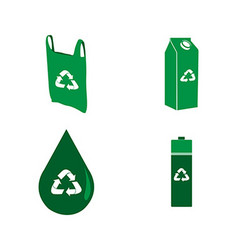 Recyclable icons vector image