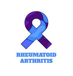 Rheumatoid arthritis awareness papercut ribbon vector