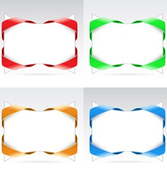 set of blanks with ribbon vector image vector image