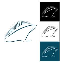 Set of cruise liner logos vector