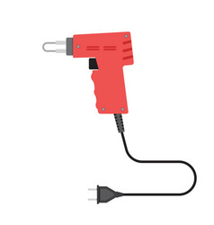 Soldering iron in flat style vector