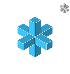 Isometric cross figure vector image