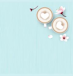 Cappuccino coffee love vector