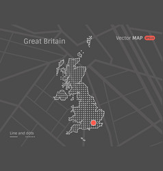 Dotted greit britain map vector