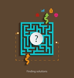 Finding solutions flat design concept template vector