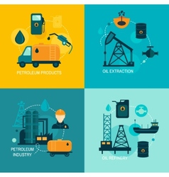 Oil industry flat composition vector