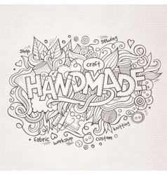 Handmade hand lettering and doodles elements vector
