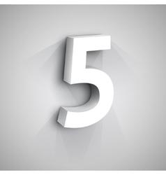 3d number five vector