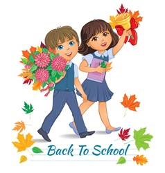 Back to school children vector image