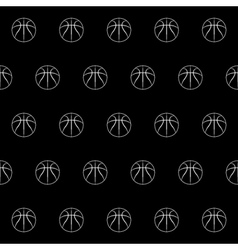 Seamless pattern with basketball vector